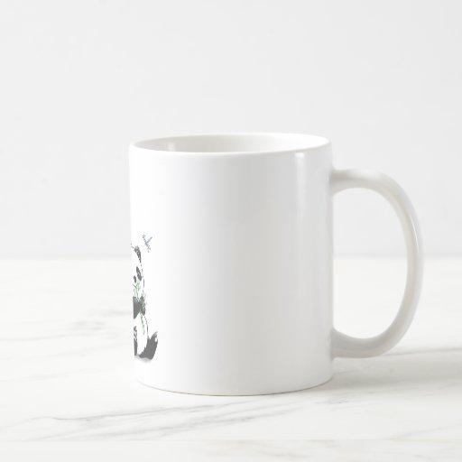 Panda Eating Bamboo Coffee Mug