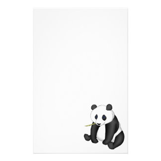 Panda Eating Bamboo Stationery