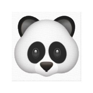 Panda - Emoji Canvas Print