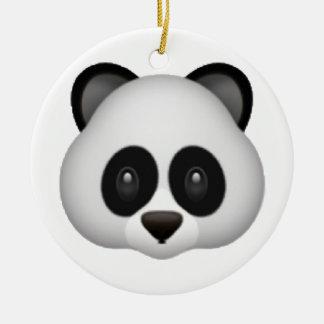 Panda - Emoji Round Ceramic Decoration