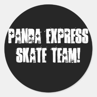 PANDA EXPRESS SKATE TEAM! ROUND STICKER