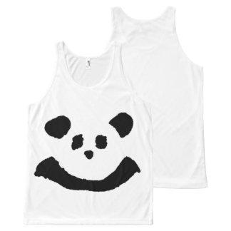 Panda Face All-Over Print Singlet