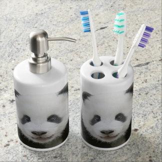 Panda Face Bathroom Set