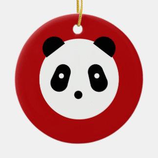 Panda Face Christmas Ornament