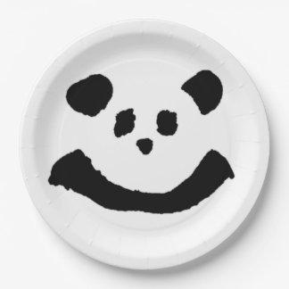 Panda Face Paper Plate