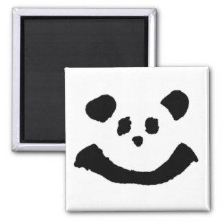 Panda Face Square Magnet