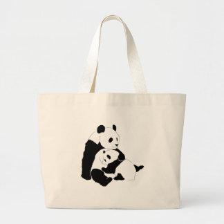 Panda Family Tote Bags