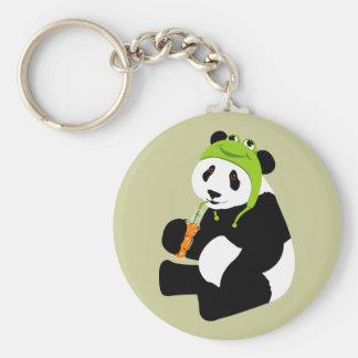Panda Frog Hat Key Chain