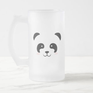 Panda Frosted Glass Beer Mug