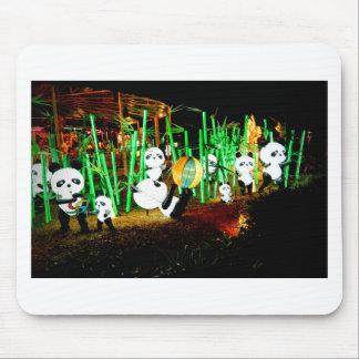 Panda Garden Light Up Night Photography Mouse Pad