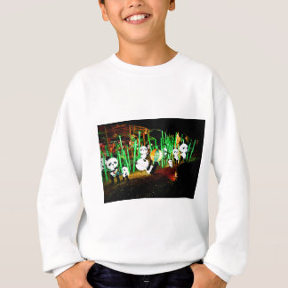Panda Garden Light Up Night Photography Sweatshirt