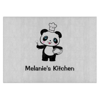 Panda Gift for Fan Cutting Board Chopping Present