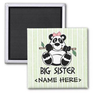 Panda Girl Big Sister Fridge Magnets