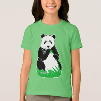 Panda Girls' American Apparel Fine Jersey T-Shirt