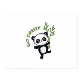 PANDA GO GREEN POST CARDS