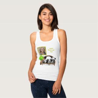 Panda, Green Plant - Insert YOUR Photo & Text - Singlet