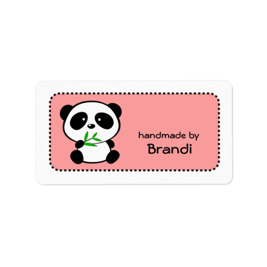 Panda Handmade By Custom Name Labels