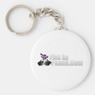 Panda Hat Basic Round Button Key Ring