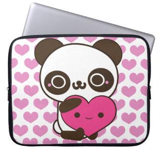 Panda Hearts Laptop Sleeve