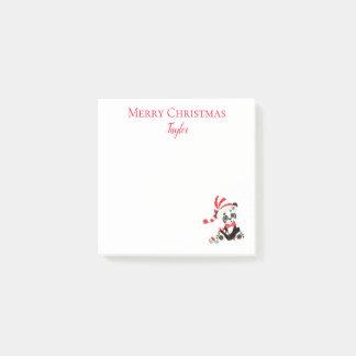 Panda Holiday Merry and Joy Post-it Notes