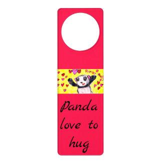 panda hug door hanger