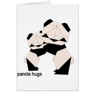 panda hugs card