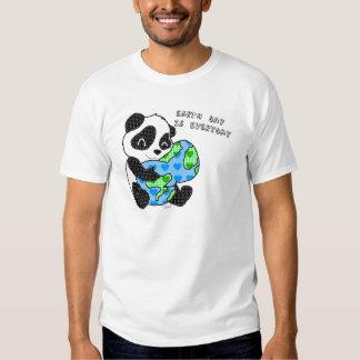 Panda hugs the earth / earthday shirts