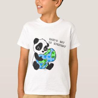 Panda hugs the earth / earthday t shirt