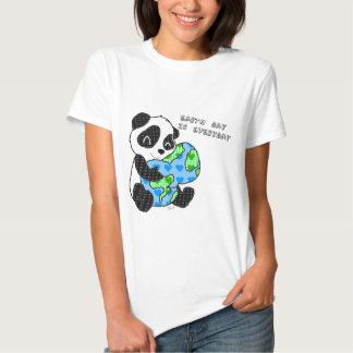 Panda hugs the earth / earthday tees