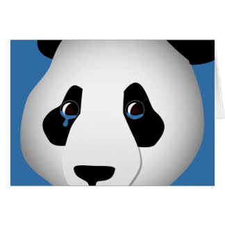 Panda I Miss You Greeting Card