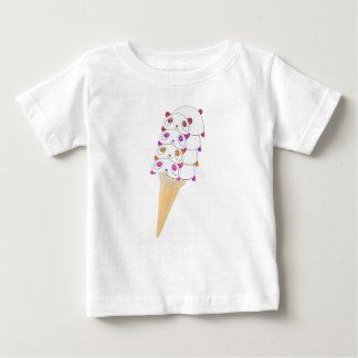 Panda Ice Cream Cone Baby Tshirt