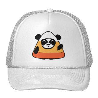 Panda in Candy Corn Costume Cap