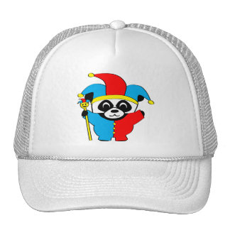 Panda in Jester Costume Cap