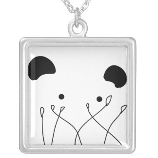 Panda In The Bushes Necklaces