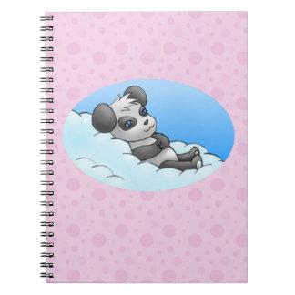 panda keychain notebook