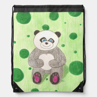 Panda kid drawstring backpack