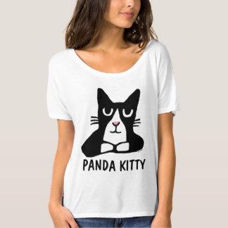 PANDA KITTY Cute Cat T-shirts, Tuxedo Cat T-Shirt