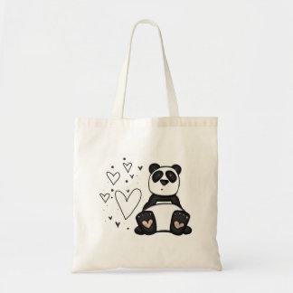 panda love budget tote bag