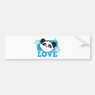 Panda love bumper sticker