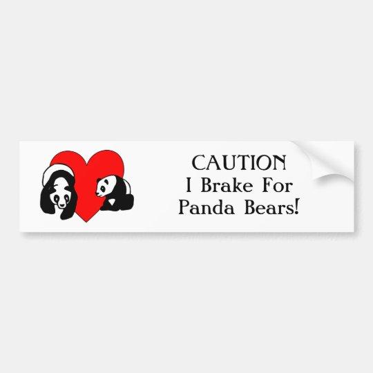 Panda Love Bumper Sticker