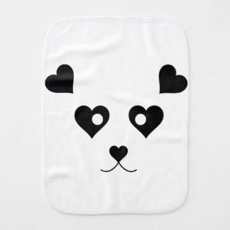 PANDA LOVE BURP CLOTH