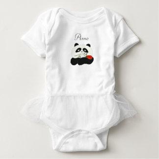 Panda Love Cartoon Cute Romantic Nostalgic Bear Baby Bodysuit
