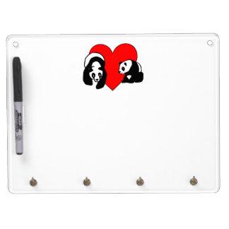 Panda Love Dry-Erase Whiteboard