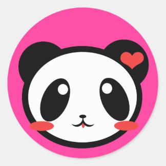 Panda Luv! Classic Round Sticker