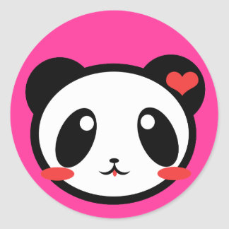 Panda Luv! Round Sticker