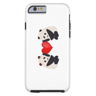 Panda Male and Female with heart Tough iPhone 6 Case