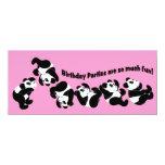 Panda Mania 10 Cm X 24 Cm Invitation Card