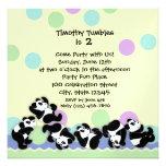 Panda Mania Personalized Invitations