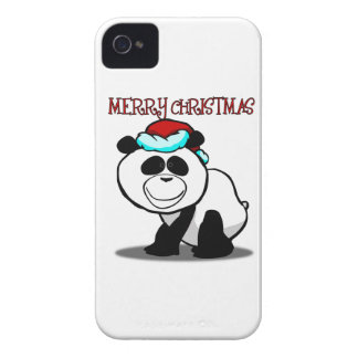 Panda Merry Christmas Blackberry Phone Case iPhone 4 Case-Mate Cases