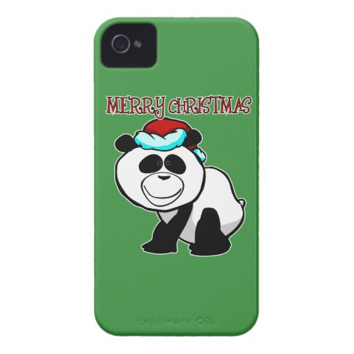 Panda Merry Christmas Blackberry Phone Case Blackberry Case